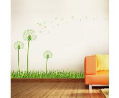 Walplus Wand Sticker Glow in dunkler Pusteblume abnehmbarer selbstklebend Wand Art Aufkleber Vinyl Home Dekoration DIY Living Schlafzimmer Décor Tapete Kinder Zimmer Geschenk