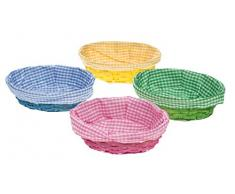 Idena 10034051 - Osterkorb mit Stoffeinlage, farbig Sortiert