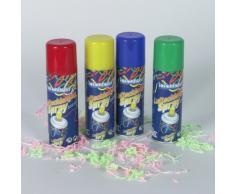 Luftschlangenspray, farblich sortiert