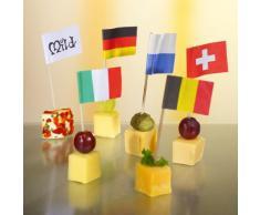 500 Deko-Picker 8 cm Nationen Flaggenpicker