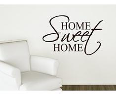 Graz Design 720246_40_070 Wandtattoo Spruch Home Sweet Home für Wohnzimmer Wanddekoration Aufkleber Deko Ideen 60x40cm Schwarz