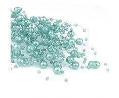 6,5 m Perlengirlanden Mint - Perlengirlande Dekoschnur Perlenkette