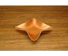 Design-SchaleFOURSTAR aus Vinyl (Kupfer-Metallic lackiert) / Dekoschale/Taschenleerer