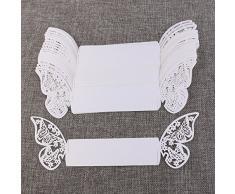 ROSENICE 50 Stück Serviettenringe Schmetterlingringe Papierservietten ringe für Partys Feste Hochzeiten Deko