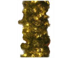 Tannengirlande 20m mit 300 LED Lichterkette warmweiß aussen Girlande künstlich grün Weihnachten