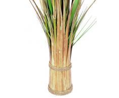 Deko Schilfgras, gebunden, grün-braun, 150 cm - Deko Gras / Kunstgras - artplants