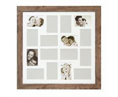 Deknudt Frames S48SH3P16 Bilderrahmen, Galerierahmen für 16 Fotos, Holz, 10 x 15 cm, Braun