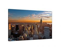 Klebefieber Leinwandbild Manhattan Sonnenaufgang B x H: 140cm x 95cm