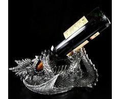 Drachen Figur Weinflaschen-Halter   Tolle Geschenkidee und Weinverpackung   lustig witzig