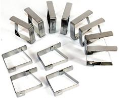 Tischtuchklammer Edelstahl 25 Stück -K&B Vertrieb- Tischdeckenklammer Tischdeckenhalterung Tischklammer Tischtuchklammern 470