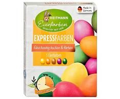 Heitmann Eierfarben Express - 5 Farben - Gleichzeitig Kochen und färben - kunterbunt, azofrei - Ostern - Ostereier bemalen, Ostereierfarbe