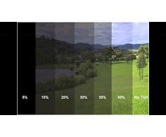 600x76cm 30% D.B Tiefschwarz Tönungsfolie Sonnenschutzfolie Scheibefolie Fensterfolie Sichtschutzfolie Scheibentönung