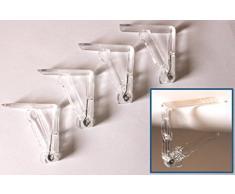 Tischtuchklammern 8 Stück -K&B Vertrieb- Kunststoff transparent Tischklammer Tischdeckenklammer 372