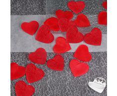 100x Rosenblüten Herz 4cm EinsSein® rot Dekoration Blüten Blumen Hochzeit Streudeko Konfetti