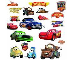 RoomMates RMK1520SCS RM - Disney Cars Piston Cup Champions Wandtattoo, PVC, Bunt, 29 x 13 x 2.5 cm