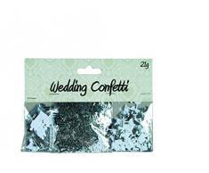 Partykonfetti Hochzeit Weiß/Silber