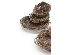 Vogelnest Osternest Naturnest Deko Nest Frühling Zweige Rattan 3er Set