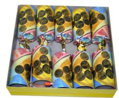 10 Tischbomben ,,Geldsack Tischfeuerwerk Silvester im hochwertigen Display