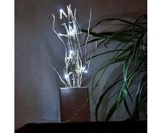 esto24-LED Lichterzweig mit 12 LEDs Deko Lichterzweige Leuchtbaum Zweige 40cm in 2 Farben erhältlich (Weiß)