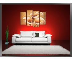 Visario Leinwandbilder 6139 Bild auf Leinwand Blumen, 130 x 80 cm, 4 Teile