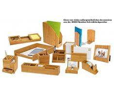 Wedo 611507 Bilderrahmen Bambus (für 10 x 15 cm Fotos, Hochformat und Querformat, mit Tischaufsteller) braun