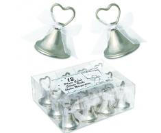 12 Stück Tischkartenhalter Platzkartenhalter mit Klingel Glöckchen Größe 5cm Hochzeit Jubiläum Weihnachten