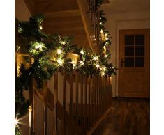 Große LED Tannengirlande mit Beleuchtung 10 Meter Girlande Weihnachten