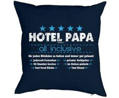 cooles Geschenk für Papa bedrucktes Kissen mit Füllung - Hotel Papa - Geburtstag Vatertag Weihnachten Geschenkidee
