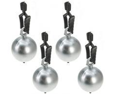 Venilia Kugel Tischtuchbeschwerer Clip Tischtuchhalter Tischdeckengewichte aus PVC und Metall, Silber, 8 x 3 x 3 cm, 54202