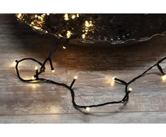 Home&Style Lichterkette, 240 LEDs warm weiß, Außenbereich, 18 m Länge, 3 m Zuleitungskabel, 8 Lichteffekte, 442971