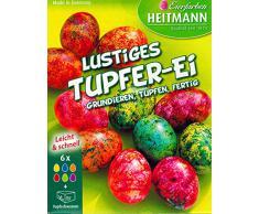 Ostereier Farben / Eierfarben Lustiges Tupfer Ei (6 Farben + Tupfschwamm) OSTERN