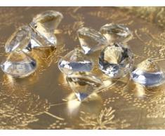 SiDeSo® Dekosteine klar Diamanten 20mm 50 Stück Acryl Tischdeko Hochzeit