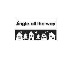 Rayher 34339000 Labels Jingle all... + Weihnachtsdorf, 60x15mm, SB-Btl 2Stück