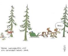 Freche WeihnachtsPOSTkarte Santa in Nöten