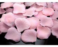 100 Rosenblätter aus Stoff rosa Hochzeit Streublumen Blumenkinder Rosenblüten Tischdeko