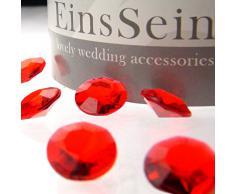 100x FUNKELNDE Diamantkristalle 12mm rot EinsSein® Dekoration Dekosteine Diamanten FUNKELNDE Diamantkristalle Streudeko Konfetti Tischdeko Hochzeit