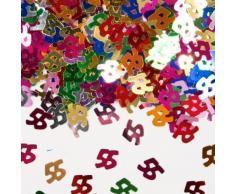 Bunt glitzerndes Konfetti mit Geburtstagszahl: 55 // Tüte mit 15g (ca. 1000 einzelne Konfetti's) // Deko Tischdeko Jubiläum Zahlenkonfetti Metallkonfetti Streukonfetti Geburtstag Birthday