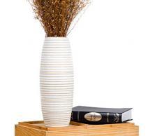 Leewadee Deko Vase - Holz - 41cm (weiß)