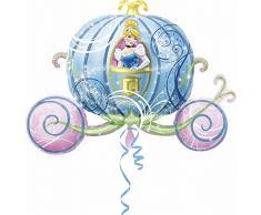 Amscan Anagram 2646301 - Party und Dekoration - Folienballon Super Shape - Disney Princess - Cinderella in Kutsche, circa 83 x 58 cm