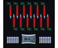 KRINNER Lumix Premium - kabellose Christbaumkerzen Starter Kit, Rot 75446