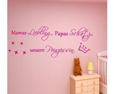 Mama Liebling...unsere Prinzessin Wandtattoo 120cm x 45cm für das Kinderzimmer.Wallsticker,Wandschrift,Wallart