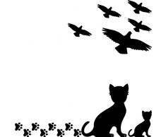 16 Stück kleine Vögel Vogel 10cm schwarz Aufkleber die cut Tattoo Warnvögel Fenster Schutz Deko Folie