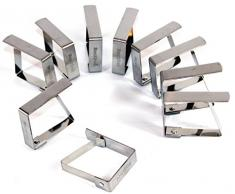 Tischtuchklammer Edelstahl 200 Stück -K&B Vertrieb- Tischdeckenklammer Tischdeckenhalterung Tischklammer Tischtuchklammern 470
