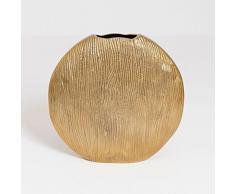 Dekovase Scudo Oval Grande / Aluminium / Gold