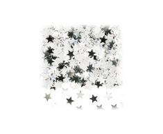 amscan Konfetti Sterne metallic Silber