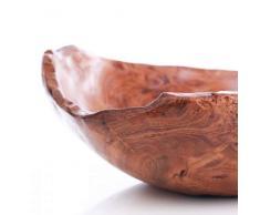 wohnfreuden Teak-Holz Schale Dekoration Aufbewahrung Natur ca. 25-30 cm braun lasiert