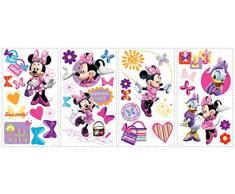RoomMates RMK1666SCS RM - Disney Minnie und Daisy Wandtattoo, PVC, Bunt, 29 x 13 x 2.5 cm