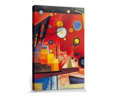1art1 Wassily Kandinsky - Schweres Rot, 1924 Bilder Leinwand-Bild Auf Keilrahmen | XXL-Wandbild Poster Kunstdruck Als Leinwandbild 120 x 80 cm
