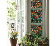 """d-c-fix Glasdekorfolie, Fensterfolie, Sichtschutz transparent selbstklebend F200-3231 Nr.23 """"Tulia"""" 15m x 45cm"""