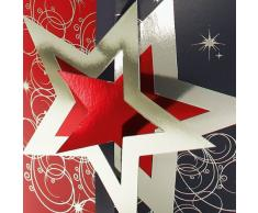 SIGEL DS012 Weihnachts-Karten Set mit Umschlag, DIN lang, 10 Stück, gestanzt - weitere Designs